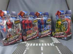 THE AMAZING SPIDER-MAN FLIP AND ATTACK SPIDER RACERCYBER LIZARD001