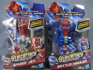 THE AMAZING SPIDER-MAN FLIP AND ATTACK SPIDER JETBATTLE HAULER001