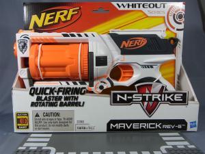 NERF N-STRIKE MARVERICK REV-6 WHITEOUT SERIES001