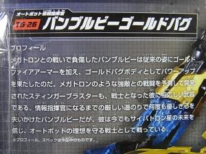 TFジェネレーションズ TG-26 バンブルビーゴールドバグ005