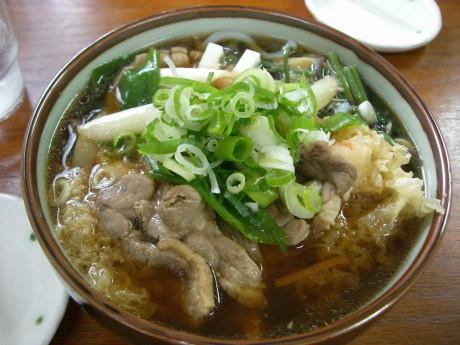 鴨山菜天ぷらそば