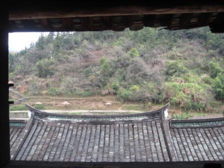 福裕楼から見える瓦屋根