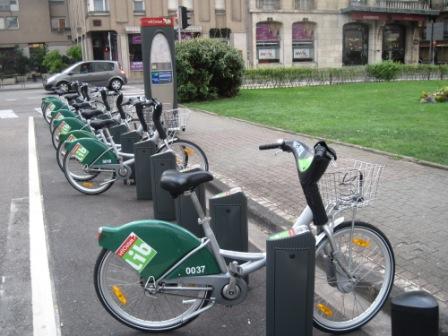 フランスのレンタル自転車