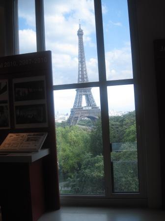 建築博物館からのエッフェル塔