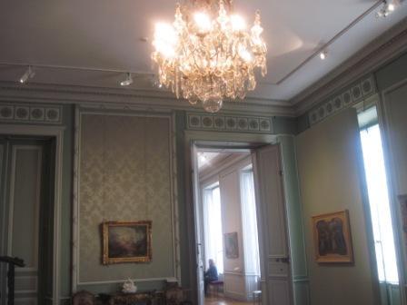 青を基調にした部屋