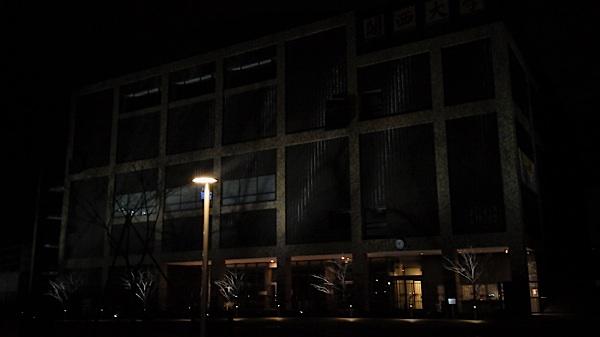 関西大学の夜の外観
