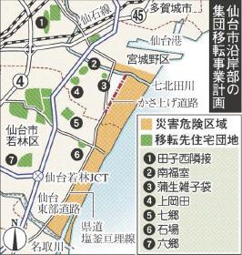 仙台市沿岸部集団移転事業計画