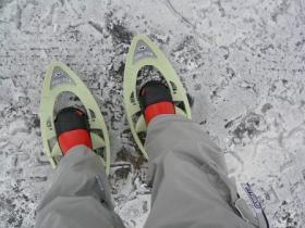 スノーシューでトレッキング1