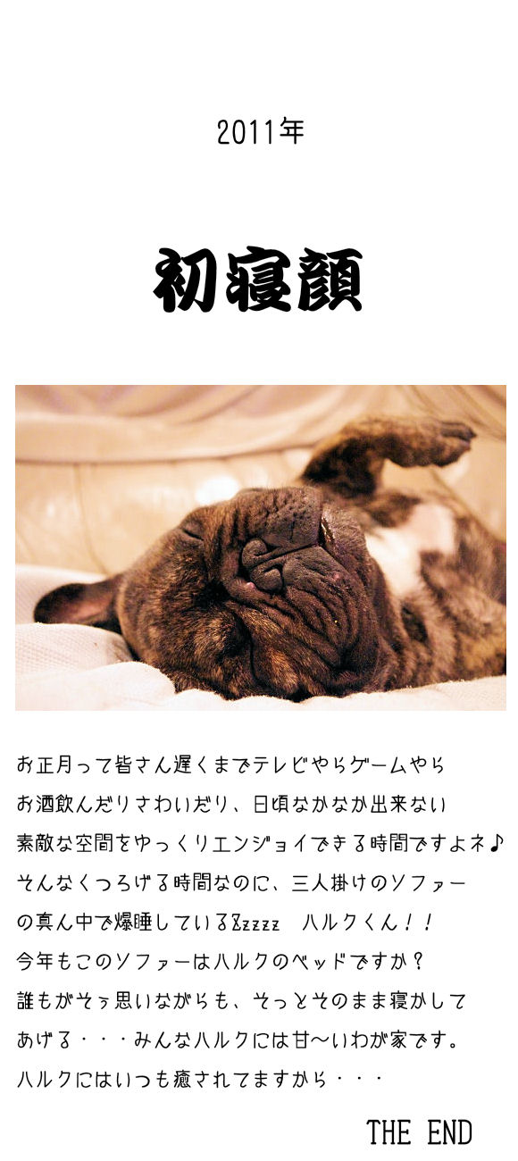 2011初寝顔♪