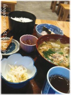 ツガニ汁定食7