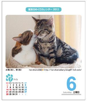 猫友日めくりカレンダー2013
