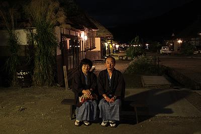 夜の大内宿 2010.90004