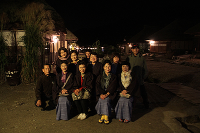 夜の大内宿 2010.90007