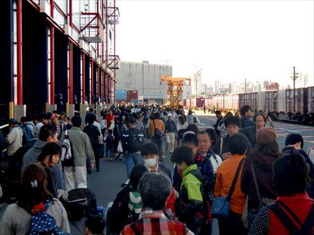 隅田川駅貨物フェスティバル 入場口