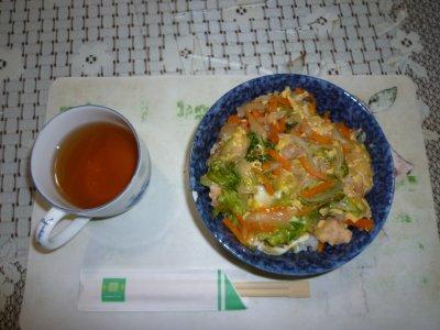 野菜たっぷり親子丼