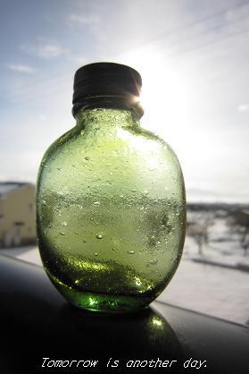新春の光を浴びて ~緑の瓶~