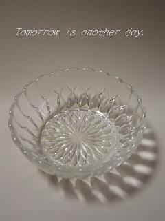 透明なガラスの小鉢