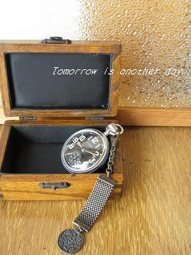 懐中時計 木箱と