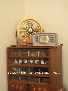 レトロな東芝製卓上扇風機 ディスプレイ
