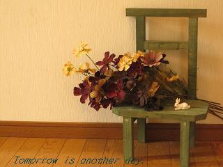 玄関 ディスプレイ 秋桜