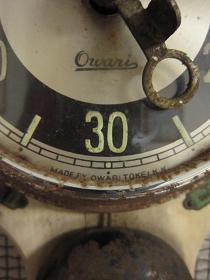 古いタイマー ~尾張時計~ 文字盤アップ