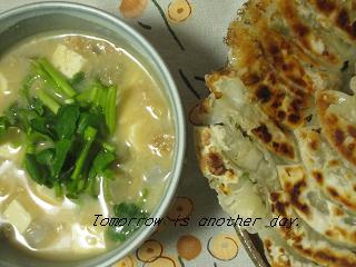 納豆汁と餃子