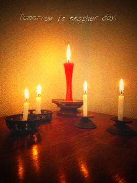 蝋燭の灯り