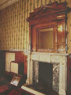 知事室 暖炉