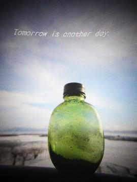 青空に憧れる ~緑の瓶~