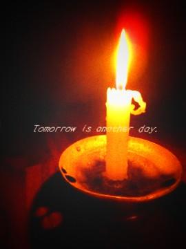 2011.3.11 ロウソクの灯りで夜を過ごす