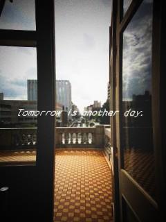 文翔館 窓からの風景 バルコニー