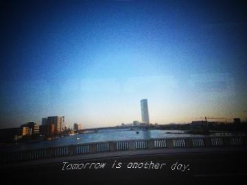 バス車中から 信濃川にかかる萬代橋