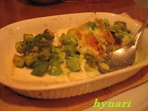お豆腐アボガド乗せチーズ焼き