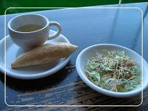 ランチのスープサラダパン