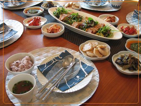 11月の奈佳先生の我が家の韓国料理