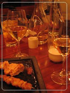 ワインと串焼き