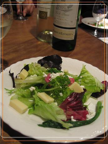 2 サラダ(赤坂さんちのお野菜、カッテージチーズ・・)