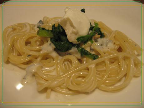 9 ブルーチーズパスタ&赤坂さんちの野菜