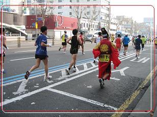 マラソン王様も走る