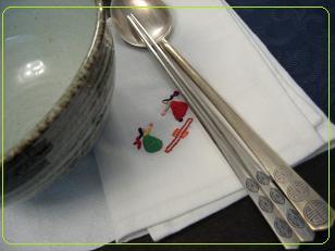刺繍のナプキン