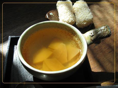 花梨茶とお菓子