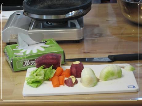 タッカルビのお野菜