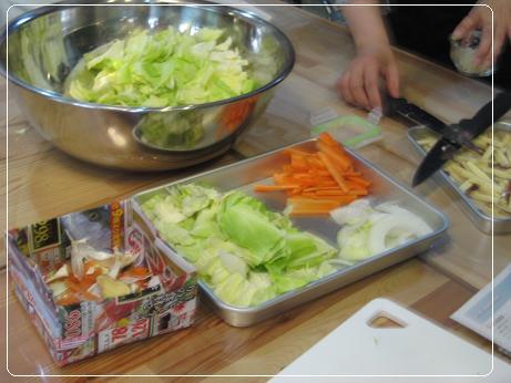 タッカルビのお野菜 1