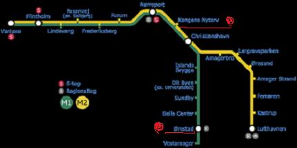 デンマーク 地下鉄マップ