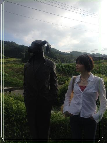 ラムネ温泉 彫刻