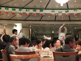 costa 9-1夕食にて
