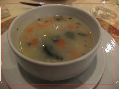 9ー3ディナー チキンと野菜のスープ