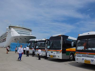 済州島港にて