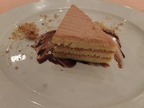 9-4ディナー ヘーゼルナッツケーキ
