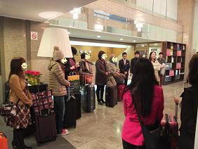 11-11 ホテルチェックアウト